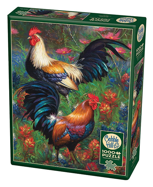 1000PC PUZZLE - ROOSTERS - 80217