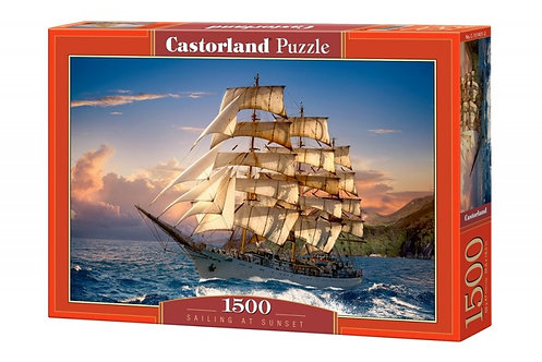 1500PC PUZZLE - SAILING AT SUNSET - 151431