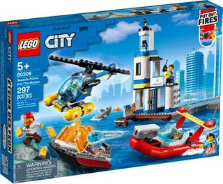 LEGO® CITY -SEASIDE POLICE AND FIRE MISSION - 60308