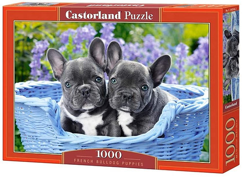 1000PC PUZZLE - FRENCH BULLDOG PUPS - 104246