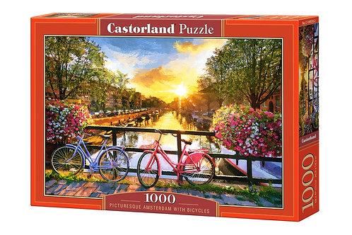 1000PC PUZZLE - PICTURESQUE AMSTERDAM - 104536