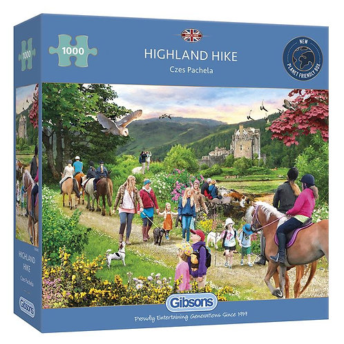 1000PC PUZZLE - HIGHLAND HIKE - GIBSONS