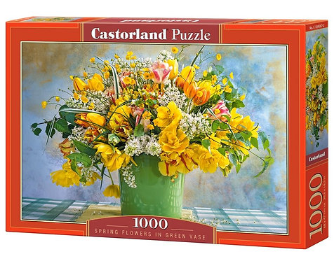 1000PC PUZZLE - SPRING FLOWERS IN GREEN VASE