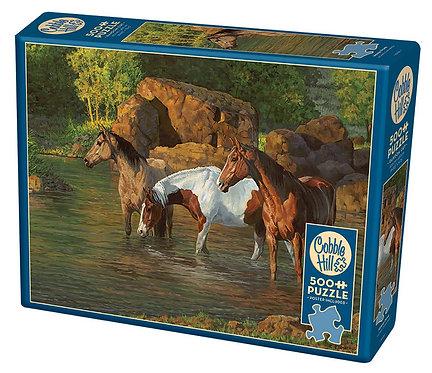 500PC PUZZLE - HORSE POND -85051