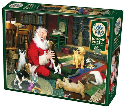 1000PC PUZZLE - SANTA'S PLAYTIME - 80125