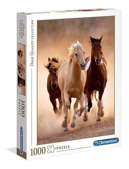1000PC - RUNNING HORSES - 39168