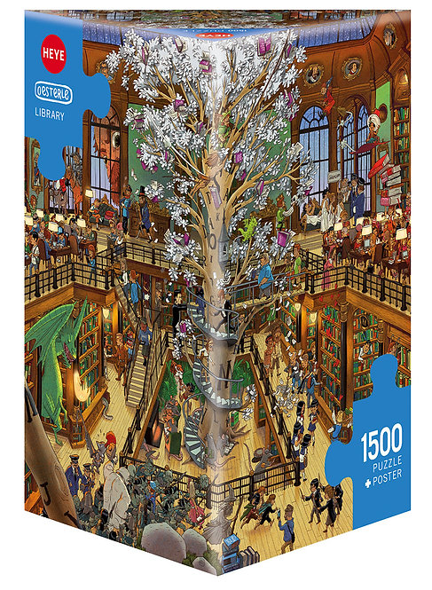 1500PC PUZZLE - LIBRARY - 29840