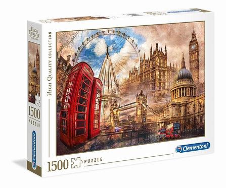 1500PC PUZZLE - VINTAGE LONDON - 31807