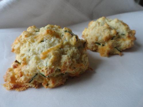 Cheddar Cheese Chive Scones - Half Dozen (6)