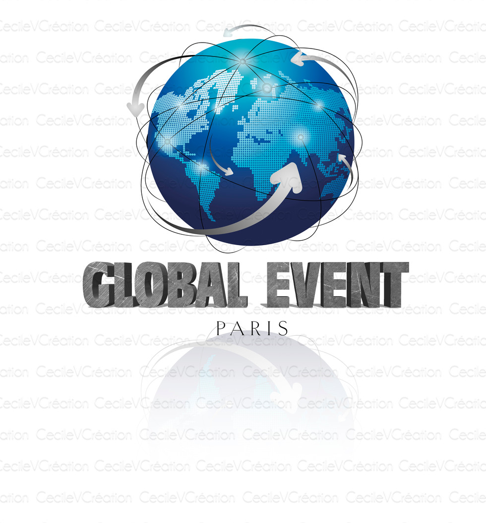Global Event Paris - Logo avec reflet