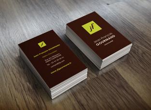 Création des cartes de visite Jean François Gourmand