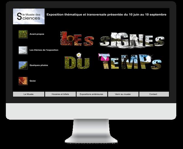 Les Signes du temps - Maquette Accueil du site web
