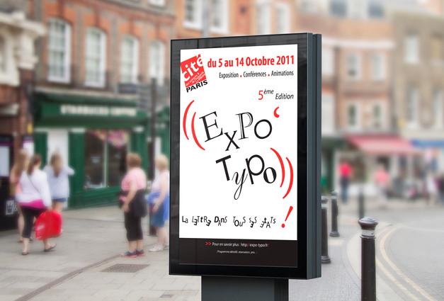 Affichage Rue Expo Typo