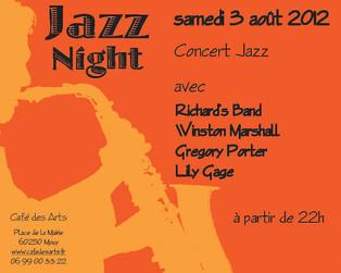 Carton Invitation Jazz Night (Verso)