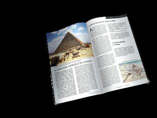 Maquette intérieur magazine - Dossier Architecture du passé