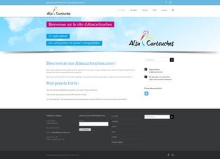 Page d'accueil du site Alsacartouches
