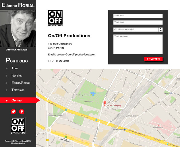 Portfolio Etienne Robial - Page contact