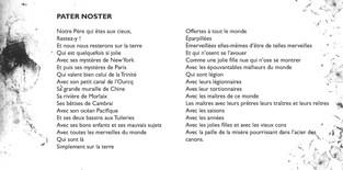 Livret page intérieur Digipak Jacques Prévert - Textes