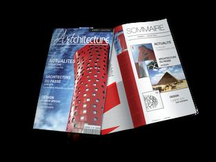 Maquette Mockup Couverture Magazine et Sommaire