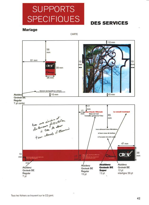 Carte Mariage Mairie de Creil
