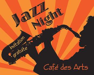 Carton Invitation Jazz Night (Recto)