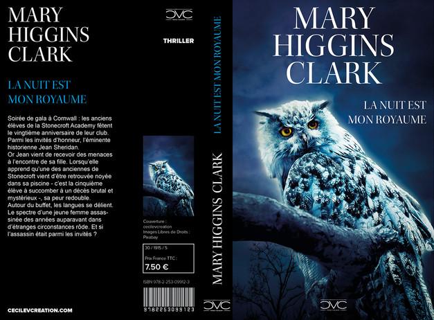 """Refonte couverture """"La Nuit est mon royaume"""" de Mary Higgins Clark"""