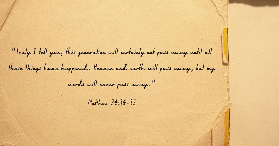 Matthew 24:34-35
