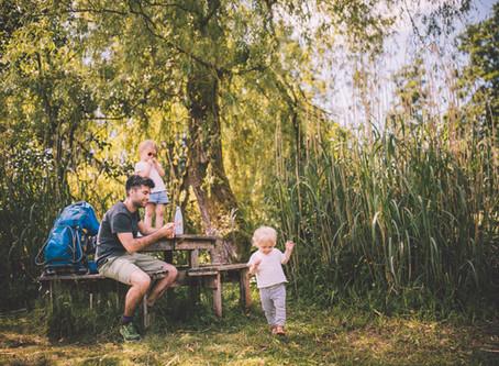 Eiland picknick midden in het Scheps natuurgebied (Balen)