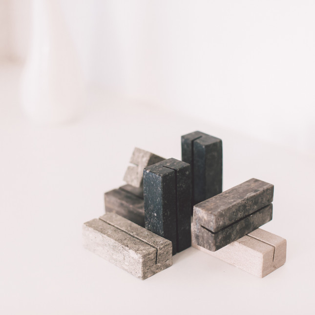 Van Den Weghe marble blocks: volcano - earth - river - dune - moon