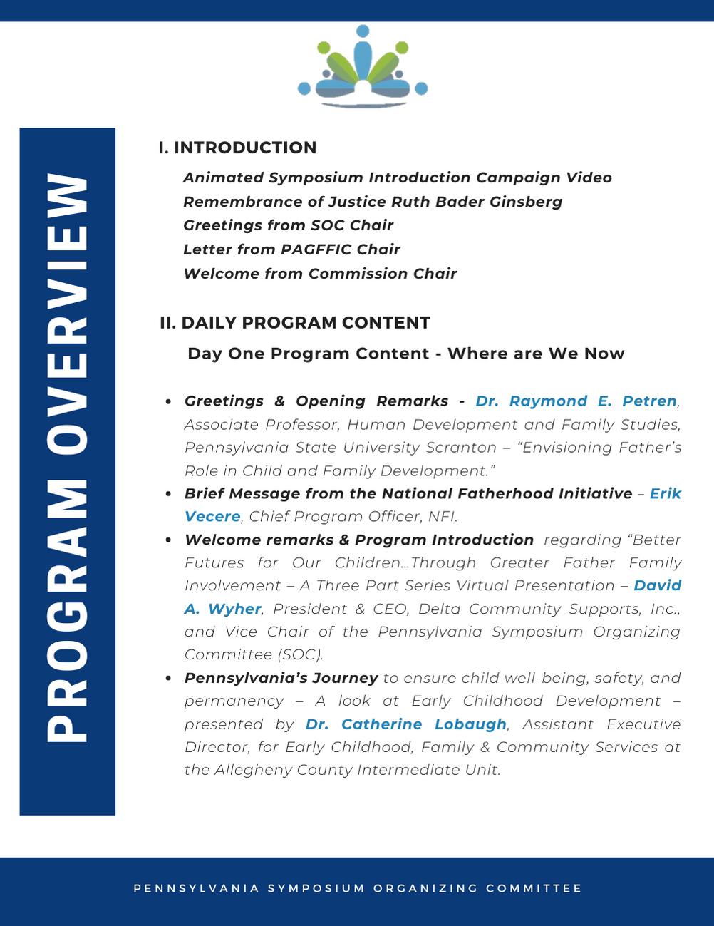Program Overview 1