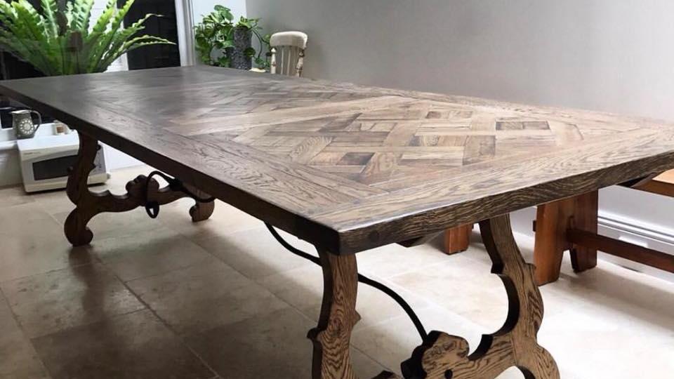 Parquet Table 10 ft x 3 ft