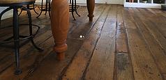 Footworn french oak flooring
