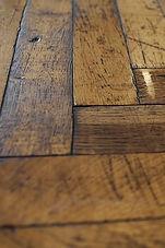 reclaimed oak parquetry