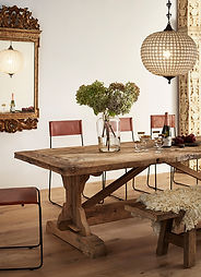 Reclaimed French Oak tables