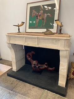 French limestone fireplaces
