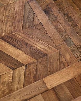 vintage oak parquet flooring