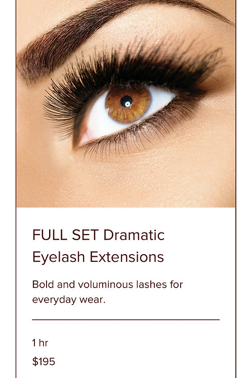 EYELASH EXTENSIONS-FULL SET DRAMATIC
