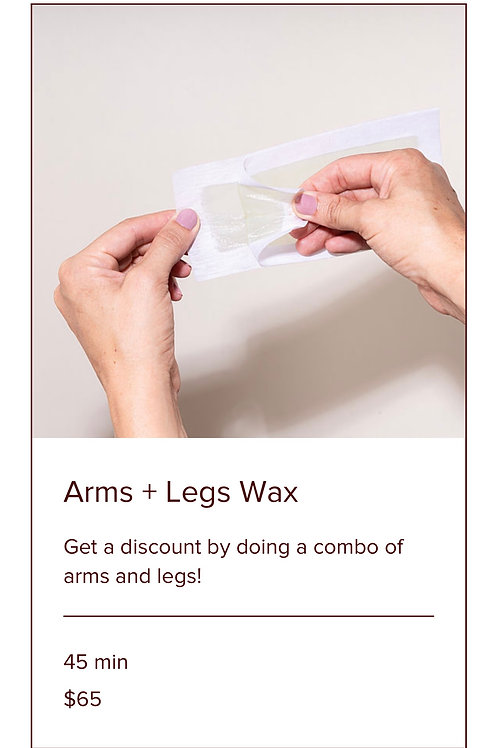 ARMS + LEGS WAX