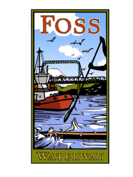 Foss Waterway Art Poster