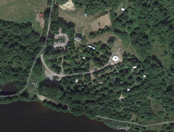 Vue sur les 10 hectares d'hébergement