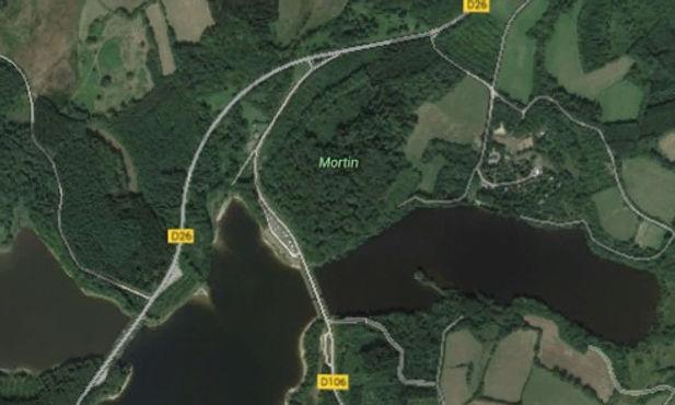 Vue sur les 25 hectares du domaine et les 75 Hectares du Lac.