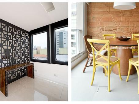 Ideias de como usar painéis vazados e painéis de madeira na decoração