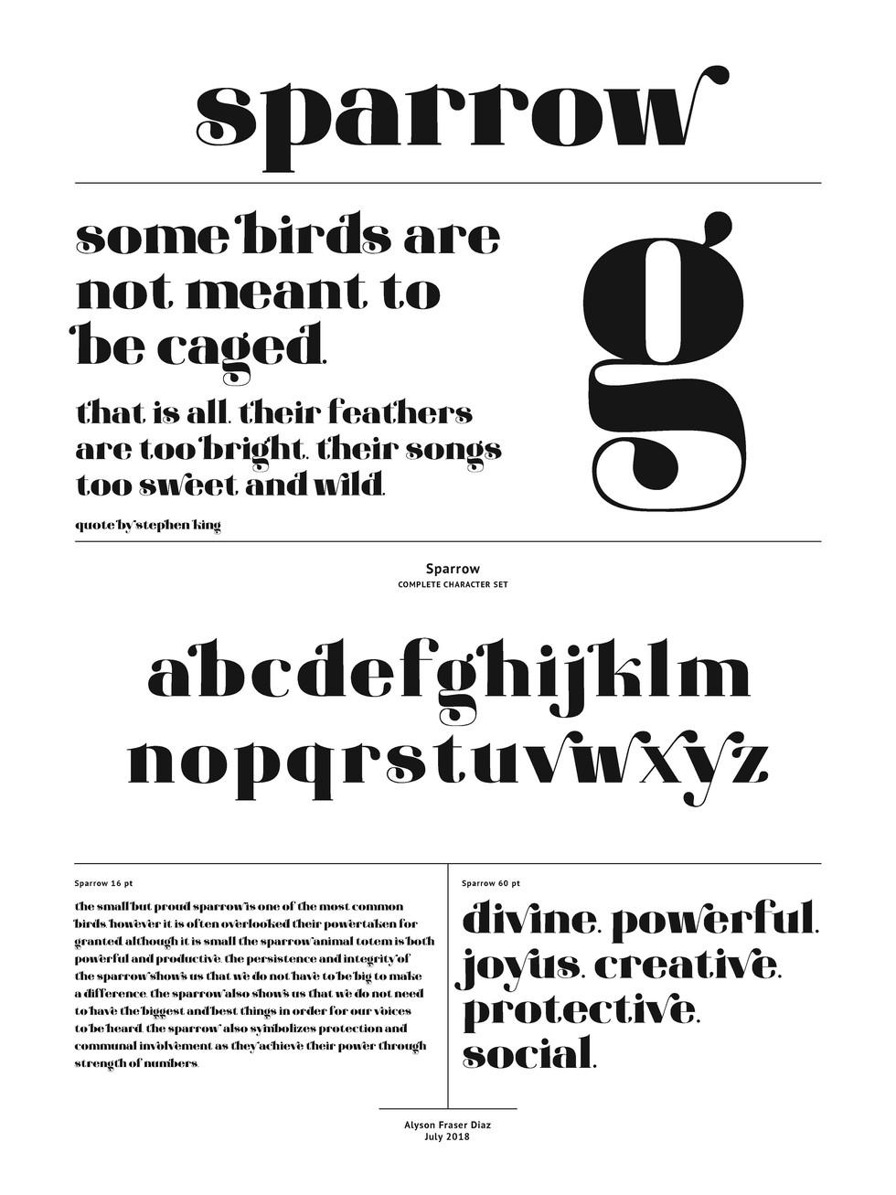 Sparrow Typeface