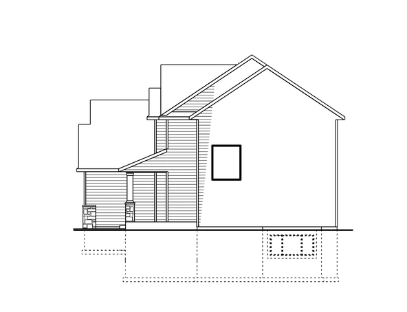 Berge Two Story Right Elevation