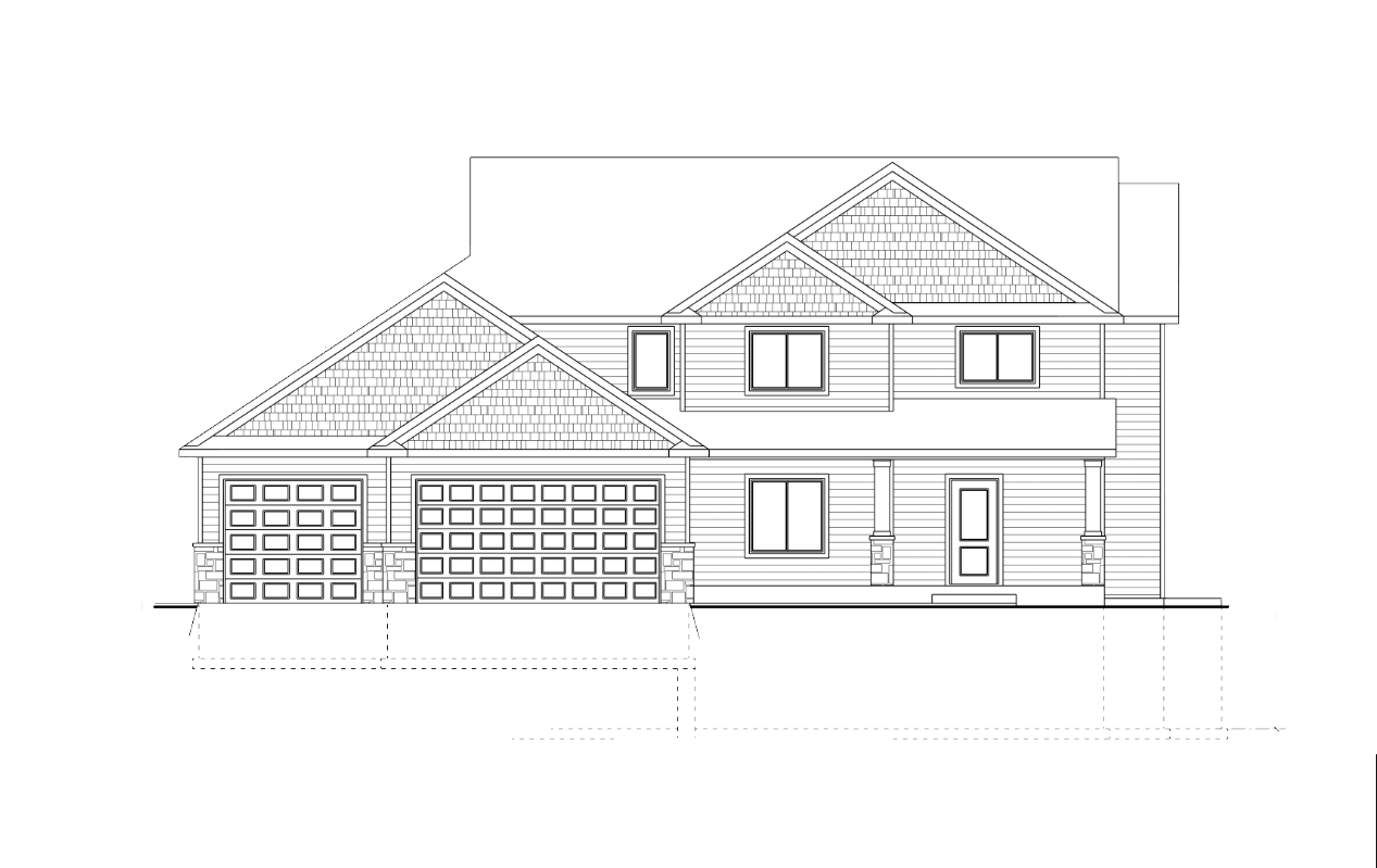 Two-Story Front Elevation