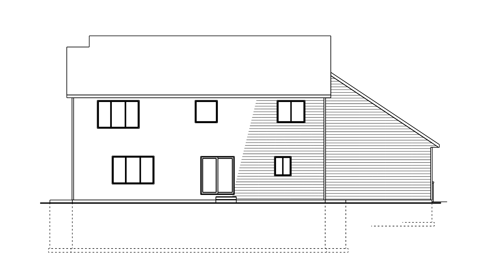 Berge Two-Story Back Elevation