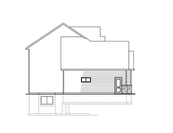 Berge Two-Story Left Elevation