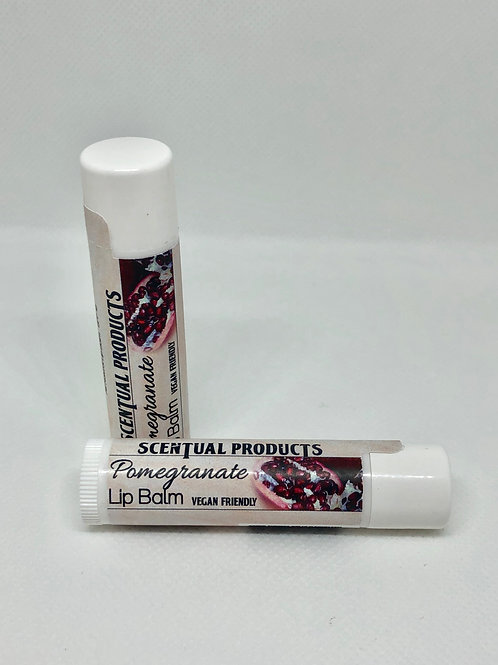 Vegan Pomegranate Scented Lip Balm