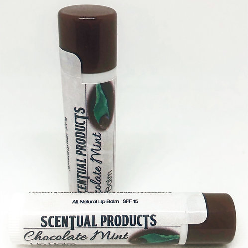 Chocolate-Peppermint Scented Lip Balm
