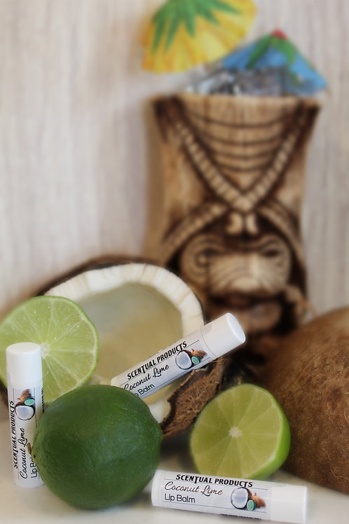 Coconut Lime Scented Lip Balm